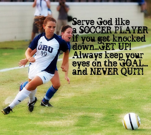 serve God like a soccer player
