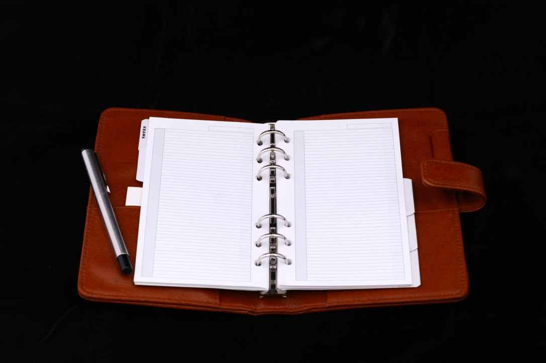 blank diary notebook page
